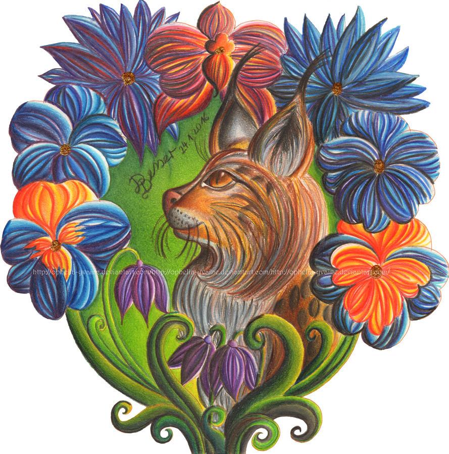 Flowerlynx by Ophelia-Yvaine