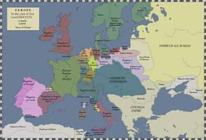 LTTW Map of Europe, 1809 by BlamedThande