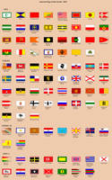 World Flags of LTTW - 1810s by BlamedThande