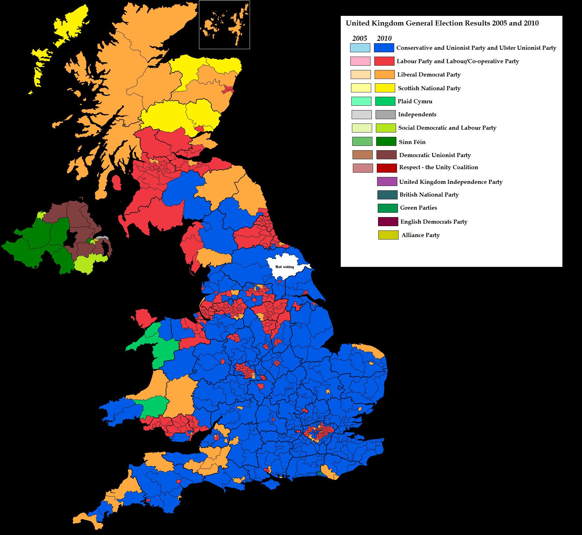 Map Of Uk General Election Results.Uk Election Result Map 2010 By Blamedthande On Deviantart