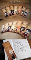 Harry Potter Bookmark Set by MadModesty