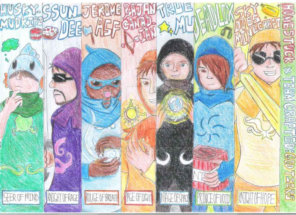 Team Crafted x Homestuck:God tiers by Dawnlauu on DeviantArt