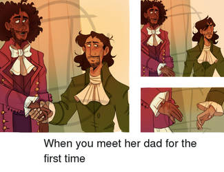 when you meet her dad for the first time by axolotlsketches