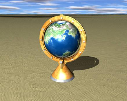Globe on the sand