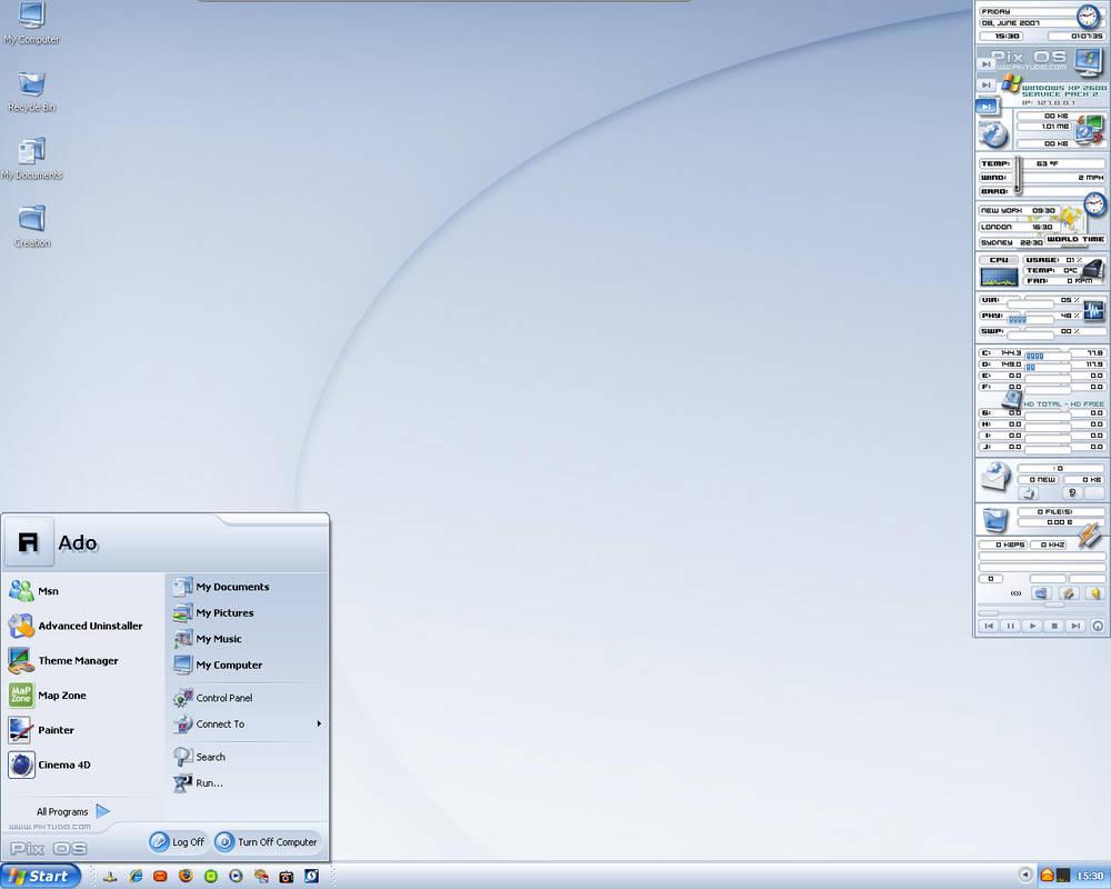 My pixos desktop