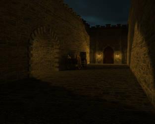 Courtyard evening by Edthegooseman