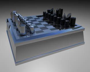 Chess set simple by Edthegooseman