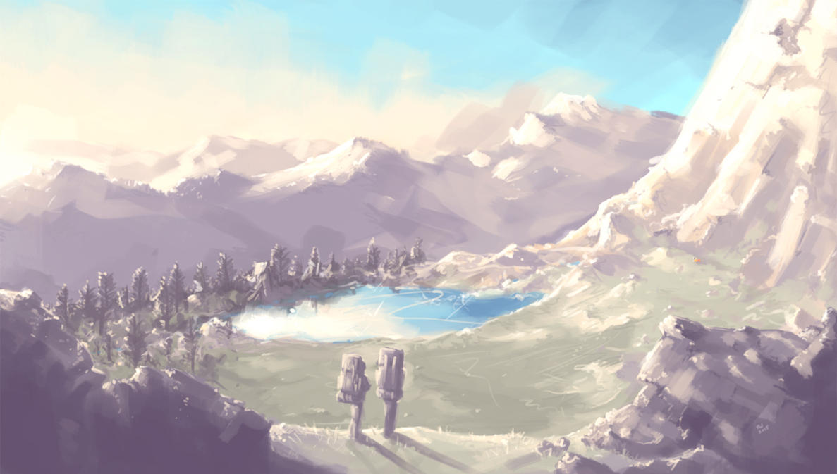 Alpine Lake by wraith11