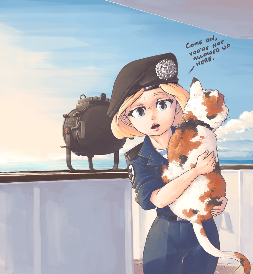 Higgins Holding Cat by wraith11