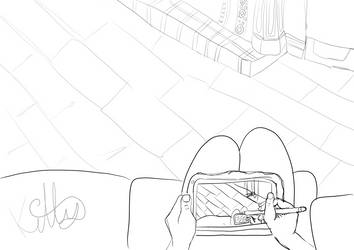 Drawing living room by catgirlsp
