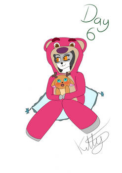 day 6: lots so hugging bear from toystory 3