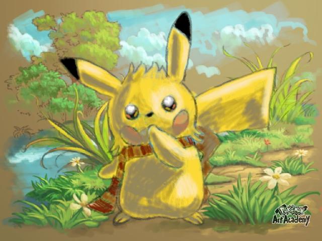 PAA: Test Pikachu #2 - my style :3 by PsychoticPanda101