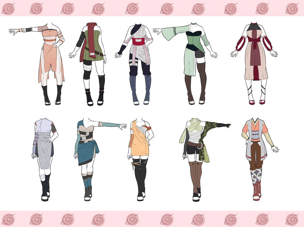 Naruto Outfit Adoptables CLOSED by zombie-adoptables on DeviantArt