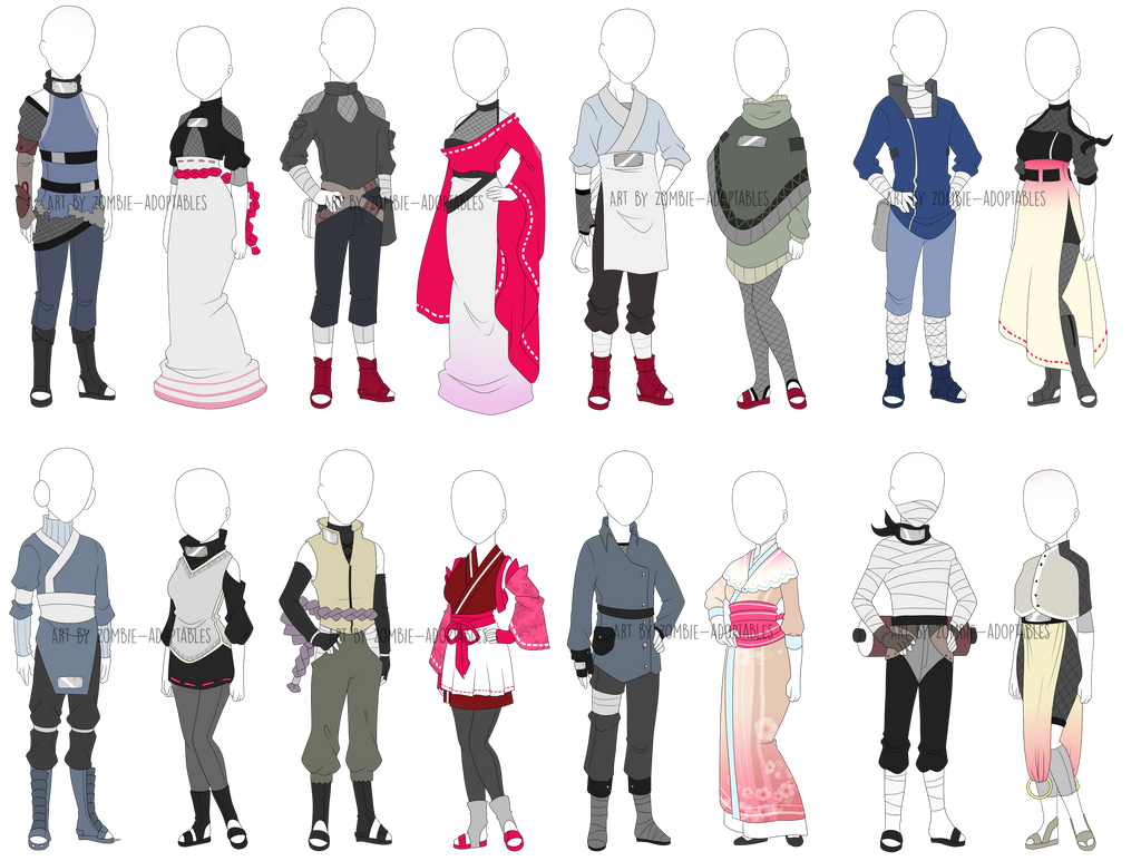 plain cute ninja outfit ideas