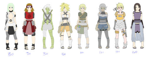 Old Adopts 7/8 SOLD by zombie-adoptables