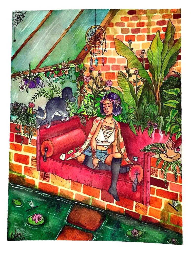 the garden// cler ilustracion by clararuiz91