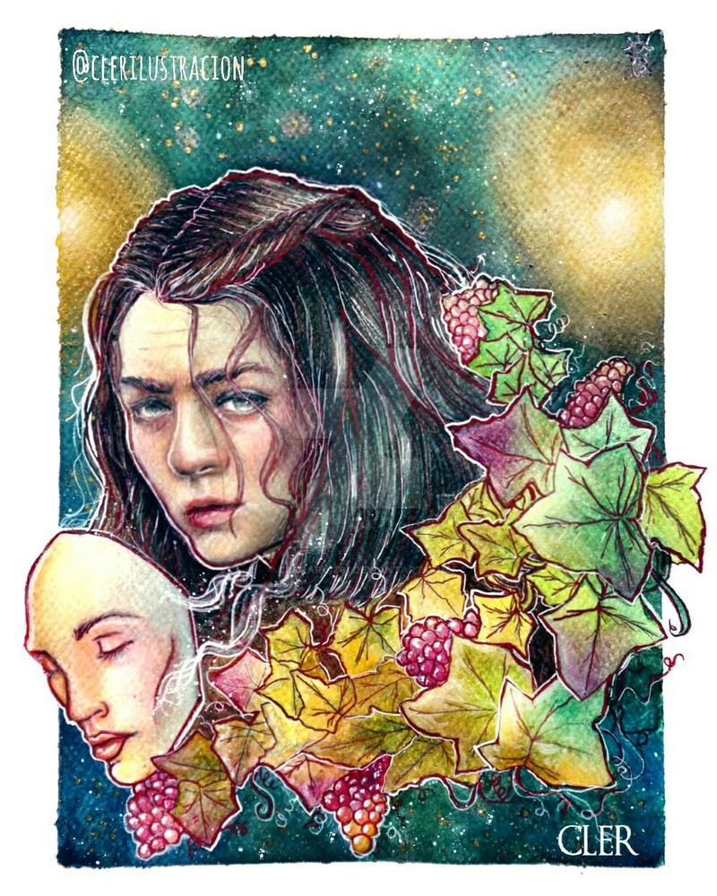 Arya Stark// Watercolor by Cler  by clararuiz91