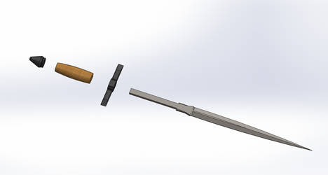 Short sword 01 -- Disassembled