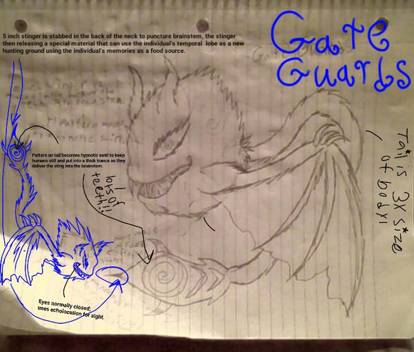 Gate Guards (ref sheet traditional style) by superdragon911