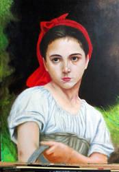 Study: Bouguereau's The Grape Picker. by forestdino