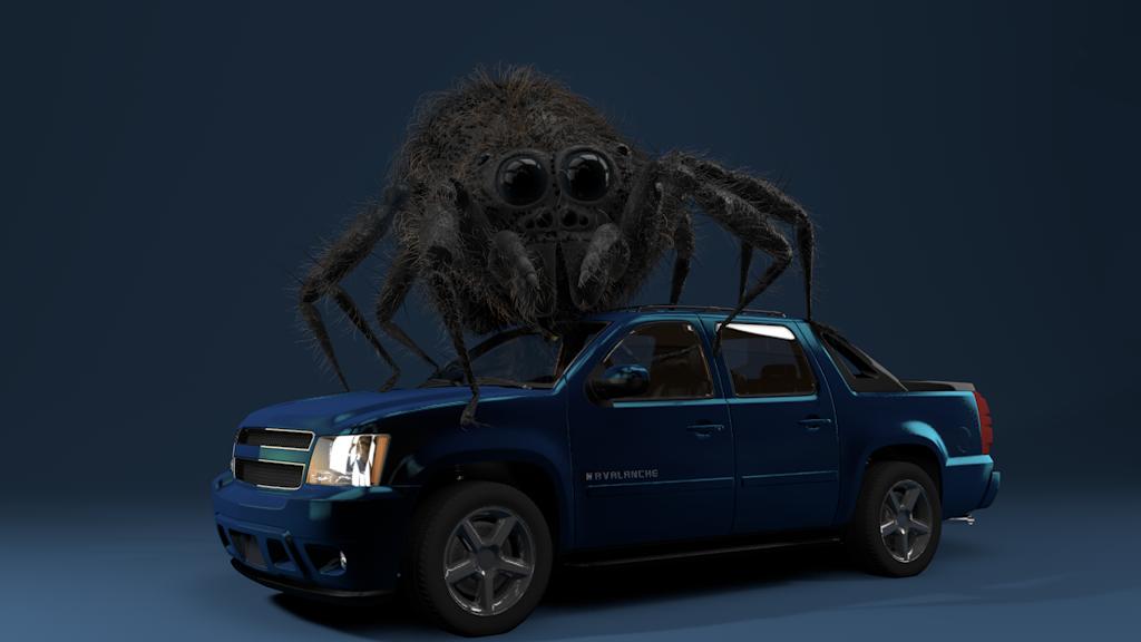 Spider on Car WIP by vozzz