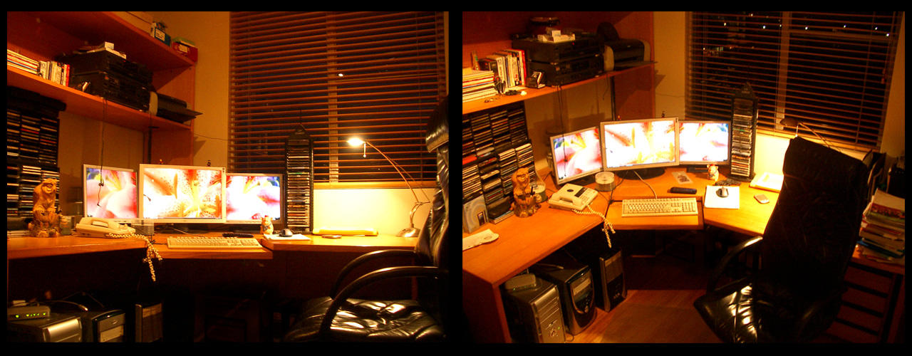 My new room, with lots of lcds