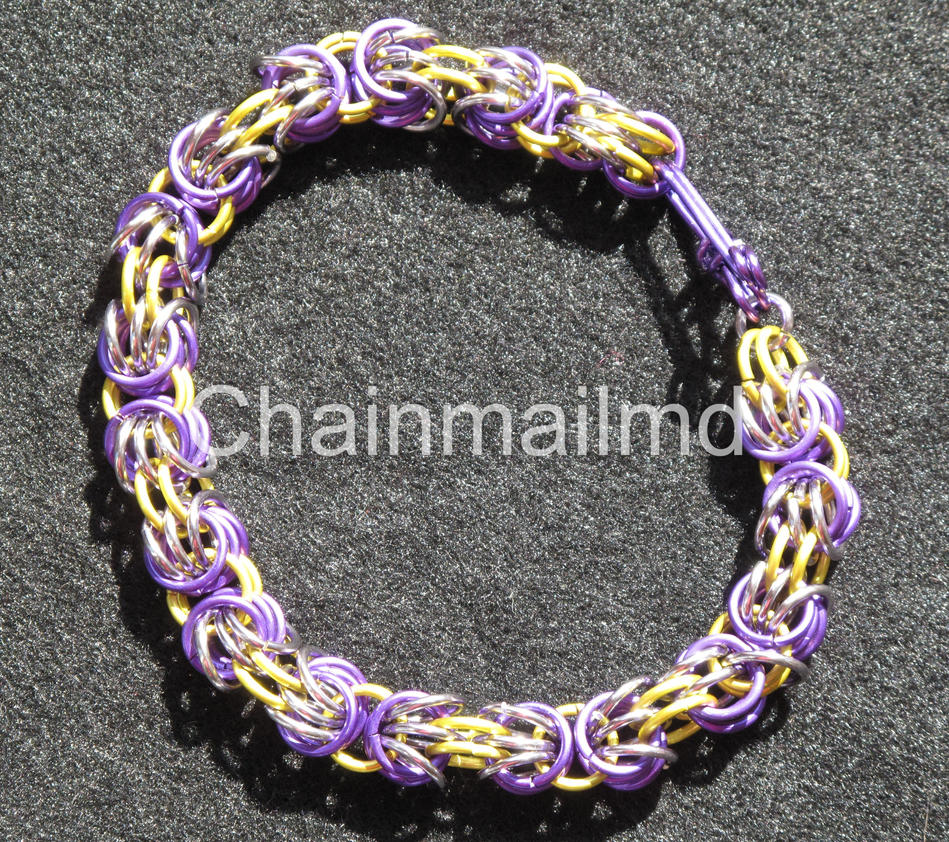 Make A Chain Mail Bracelet: HANDCRAFTED CHAIN MAIL BRACELET TRIZANTINE WEAVE By