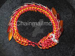 Handcrafted Chain Mail Dragon Bracelet