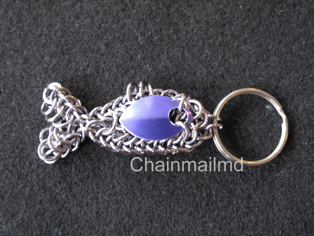 Handcrafted chain mail fish pendant or keychain by chainmailmd on handcrafted chain mail fish pendant or keychain by chainmailmd mozeypictures Image collections