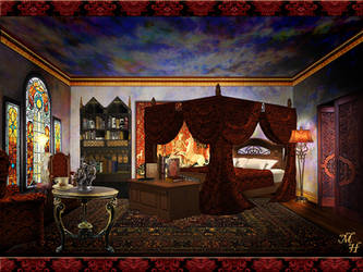 Bedroom by OokamiKasumi