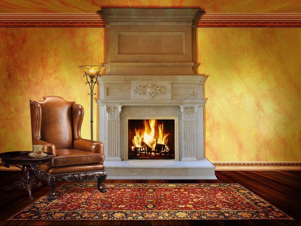 Fireplace by OokamiKasumi on DeviantArt