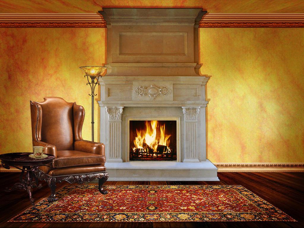 Fireplace by OokamiKasumi