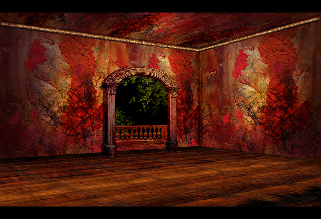 Red-Gold room - vacant by OokamiKasumi on DeviantArt