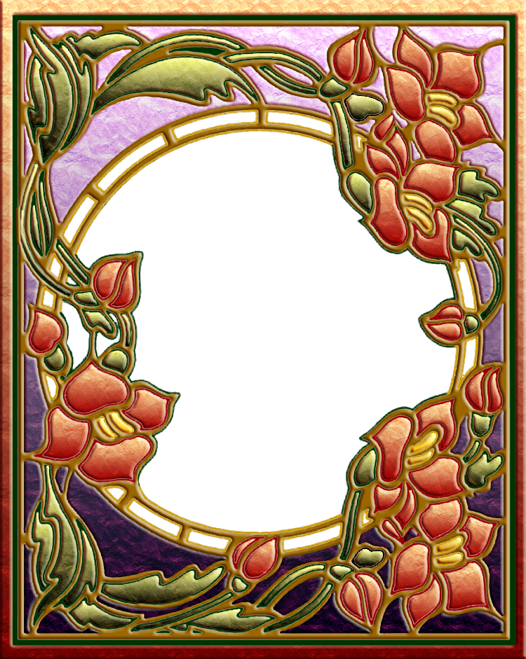 Art Nouveau frame 03 by OokamiKasumi