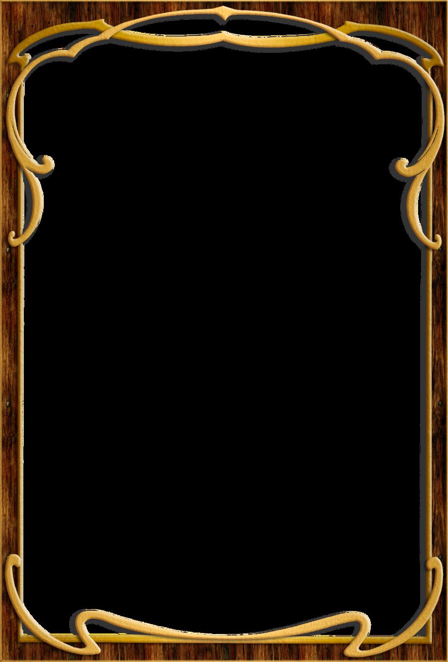 vintage wood frame png wood frame 003 by ookamikasumi