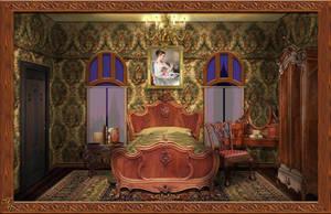 Victorian bedroom by OokamiKasumi