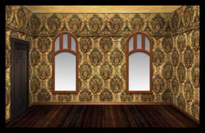 Victorian bedroom unfurnished by OokamiKasumi