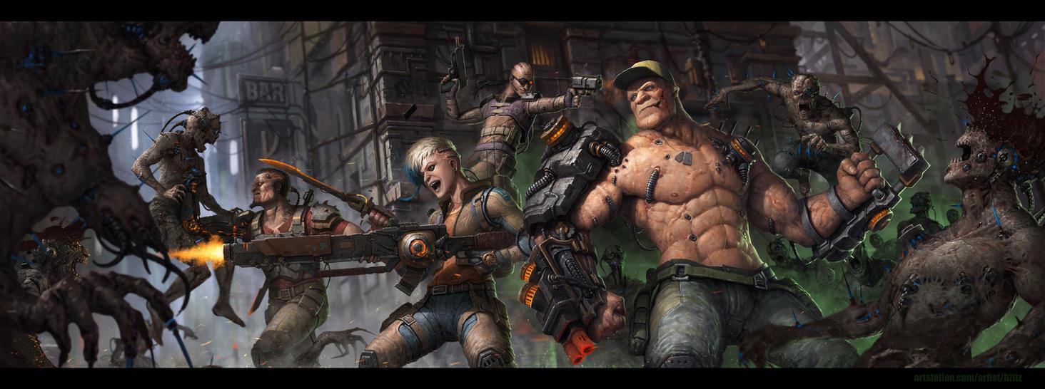 Kick-ass squad by Bzitz
