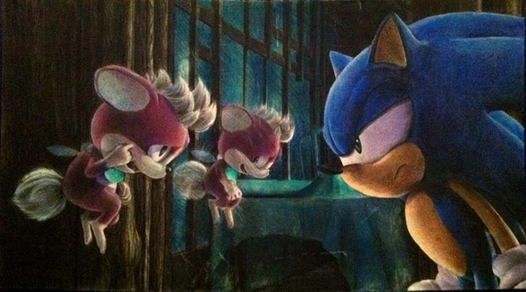 Sonic and Chip by raseinn