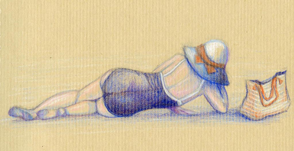 Lying On The Beach by cchersin