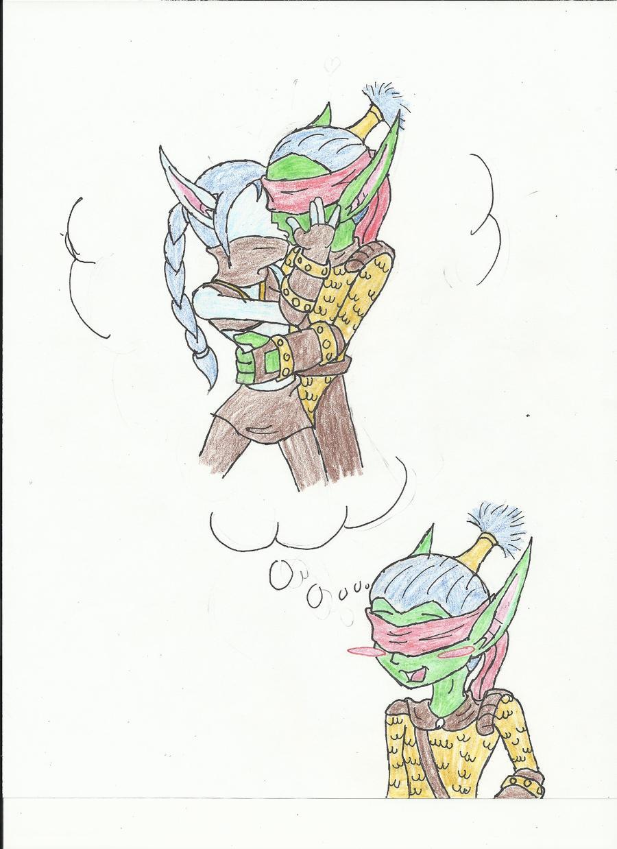 Flameslinger X Stealth elf by crazedperson