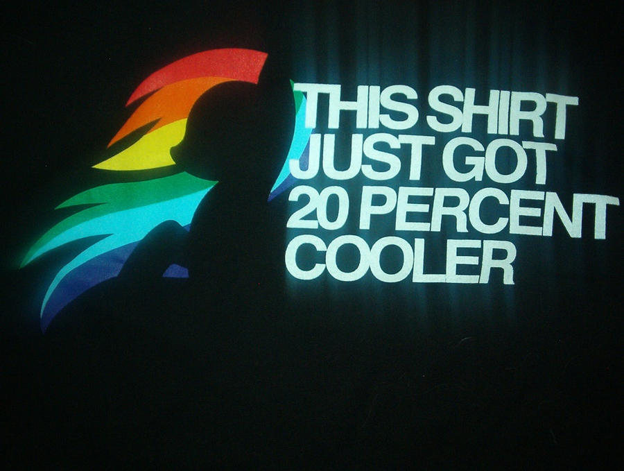 MLP 20 percent cooler shirt by crazedperson