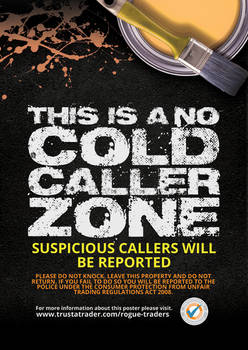 Trust a Trader: Anti Cold Caller Poster