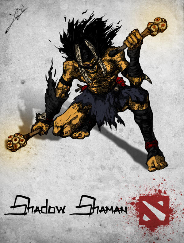 chinese style dota 2 hero shadow shaman by xxkazeshinixx on
