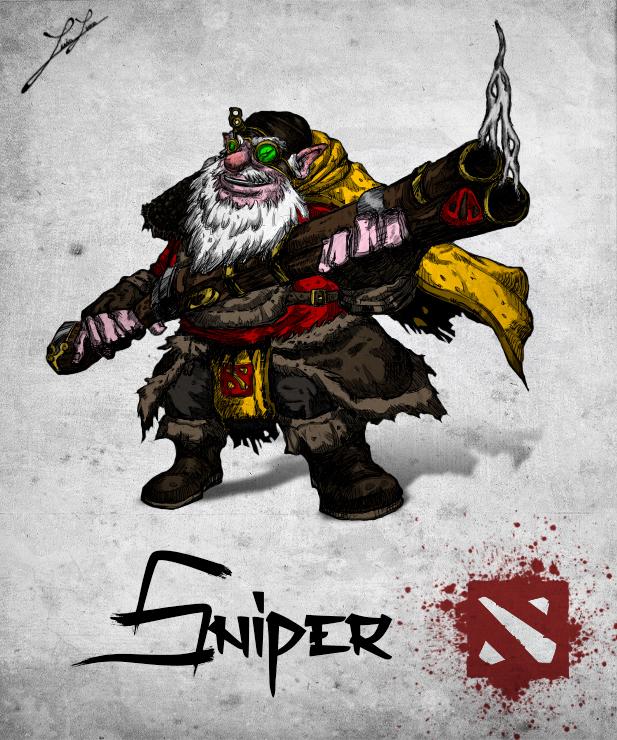 chinese style dota 2 hero sniper by xxkazeshinixx on deviantart