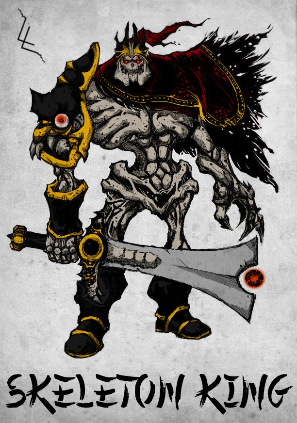 Chinese Style Dota 2 Hero - Skeleton King by xXKazeshiniXx ...