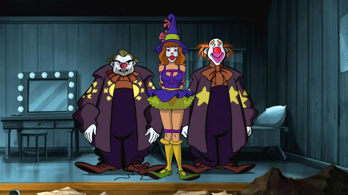 Daphne Blake and Evil Clowns 02 by VictorZulu