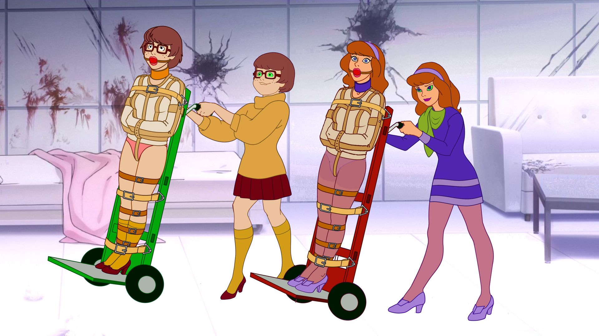 Daphne and Velma in Hands of Evil Doubles by VictorZulu