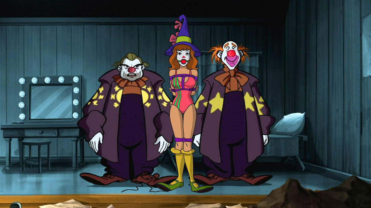 Daphne Blake and Evil Clowns 02 Swimsuit version by VictorZulu