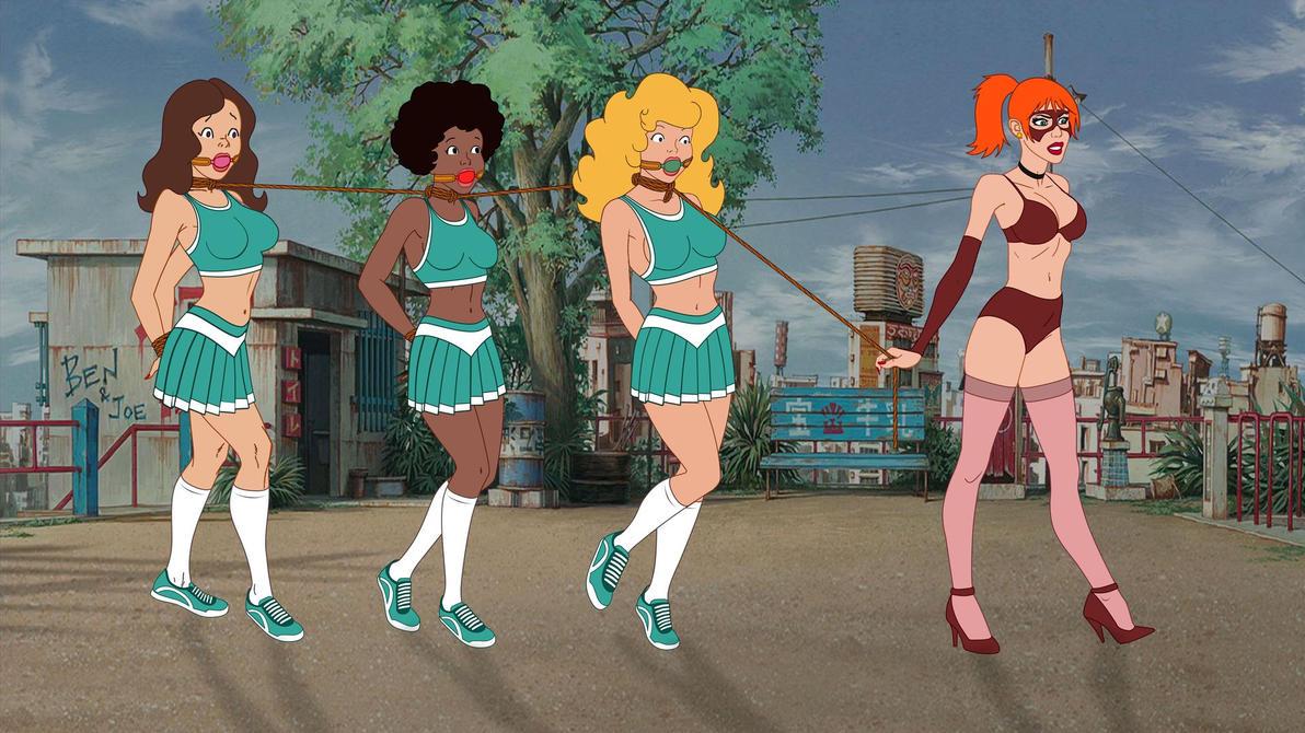 Teen Angels in Troubles Cheerleaders Version by VictorZulu